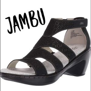 Size 10, EU 41 JBU by Jambu, Bianca, Black Wedge